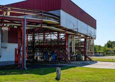 Pracovisko výdajnej lávky pohonných hmôt PROGRESS-TRADING a.s. Trebišov