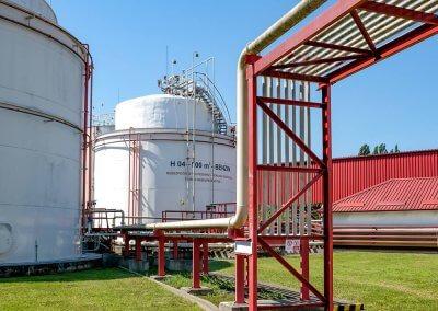 Skladovacie nádrže pohonných hmôt s príslušenstvom PROGRESS-TRADING a.s. Trebišov 11